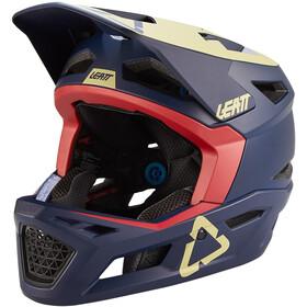 Leatt MTB 4.0 DH Casco, blu/giallo